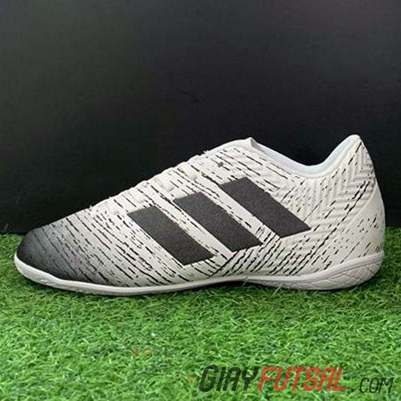 Giày Adidas Messi Nemeziz 18.4 IC trắng đen