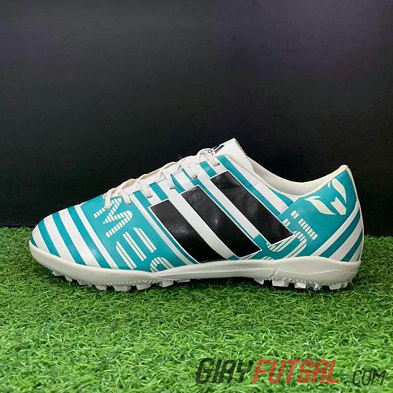 Giày Adidas Messi Nemeziz 17.3 TF - trắng xanh