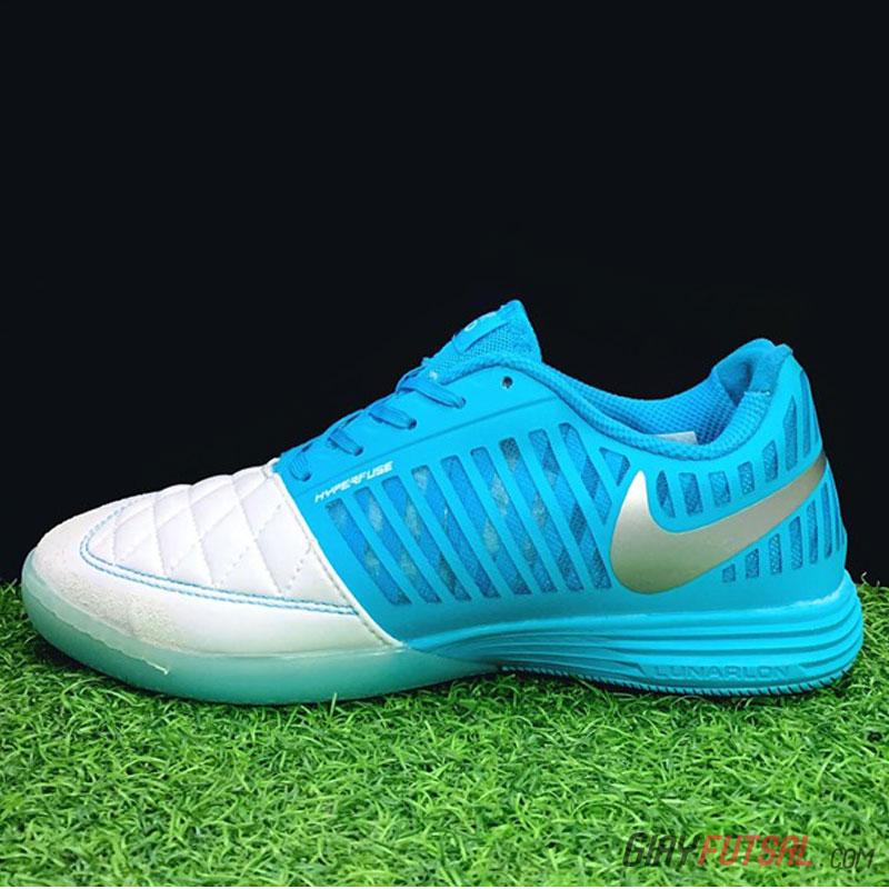 Giày Nike Lunar Gato II IC - xanh biển trắng (SF)