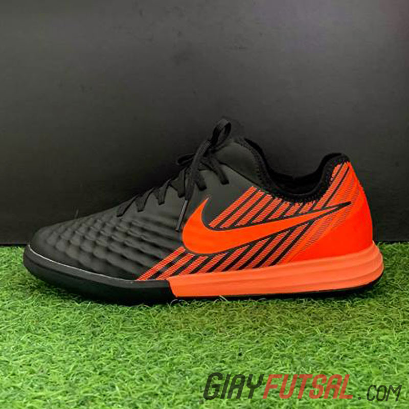Giày Nike MagistaX Finale II IC - đen sọc cam (SF)