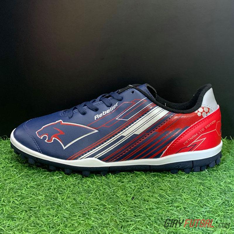 Giày Pan Rebeller TF - xanh đen đỏ