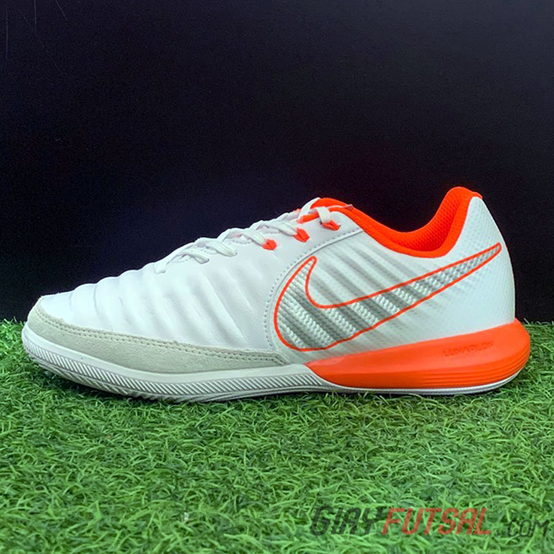 Giày Futsal Nike Tiempo Luna Legend IC - trắng cam (SF)