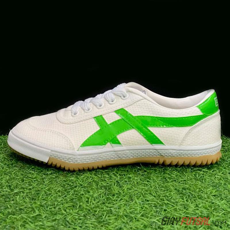 Giày Bata Warrior 27A - trắng xanh lá