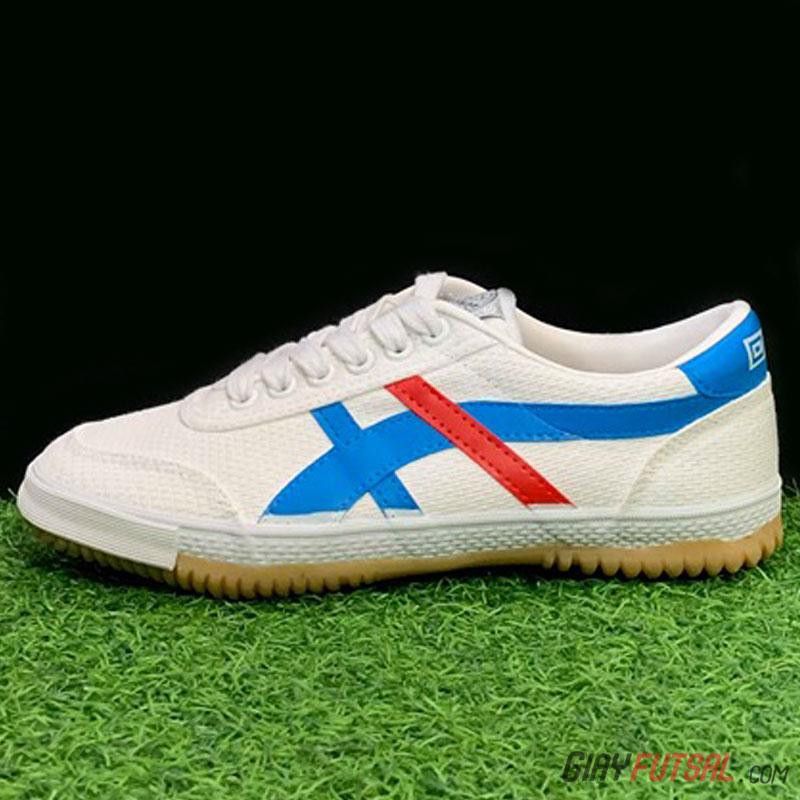 Giày Bata Warrior 27A - trắng xanh đỏ
